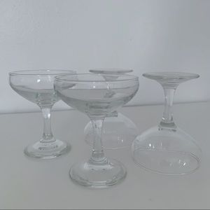 Set of 4 Vintage Champagne Coupe Glasses